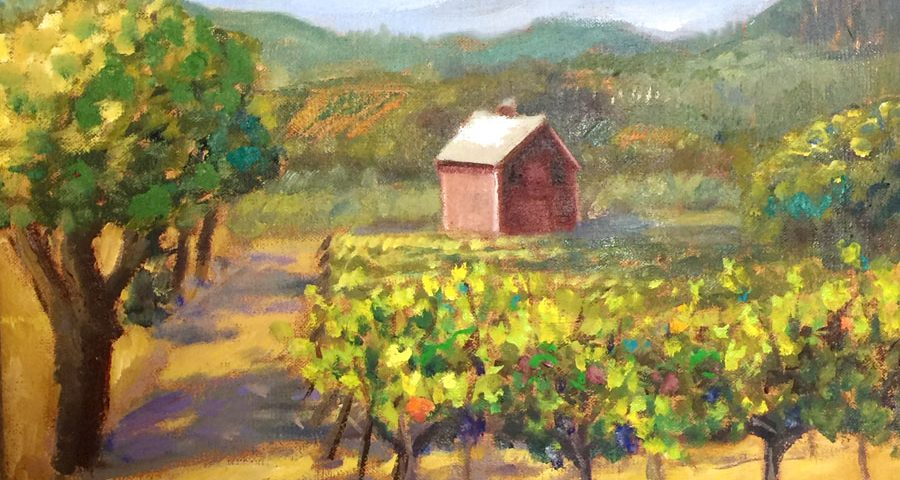 Timber Crest Barn 14x11 Oil on Canvas